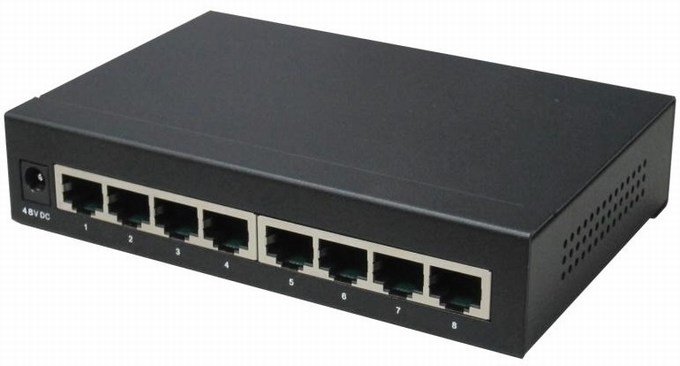 8-Port 10/100Mbps PoE Switch IONNET IFE-808 (130Watt)