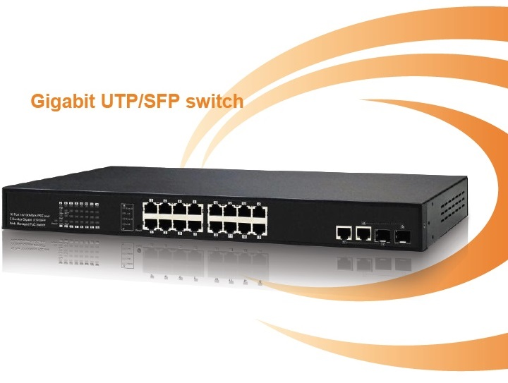 16-Port 10/100Mbps PoE Switch IONNET IFS-1816 (130Watt)