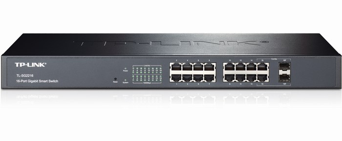 16-Port + 2 Slot SFP Pure Gigabit Smart Switch TP-LINK TL-SG2216