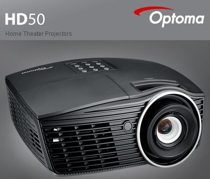 Máy chiếu giải trí HOME THEATER OPTOMA HD50