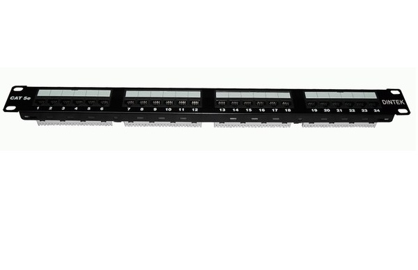 Patch panel 24 port Dintek CAT.5E, 19 inch (1402-03019)