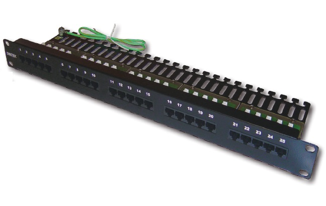 Patch panel for Telephone 25 port Dintek, 19 inch
