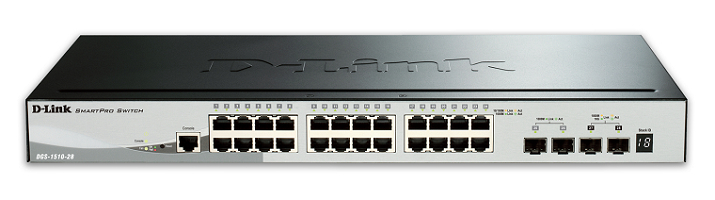 24 Port Gigabit Smart Switch + 4 slot SFP D-LINK DGS-1510-28