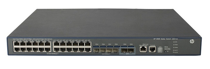 HP 5500-24G-4SFP HI Switch with 2 interface Slots JG311A