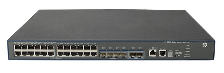 HP 5500-24G-SFP HI Switch with 2 Interface Slots JG543A