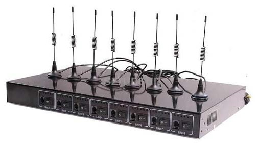 Thiết bị GSM 8 kênh SIM di động Yoriver FWT-C808