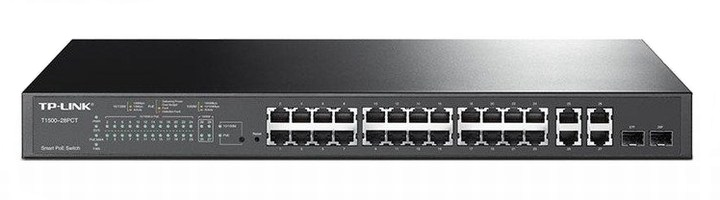 24-Port 10/100Mbps + 4-Port Gigabit Smart PoE+ Switch TP-LINK TL-SL2428P