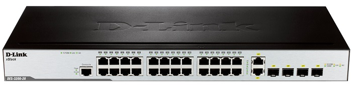 24-Port Smart Switch + 4 Slot SFP D-Link DES-3200-28