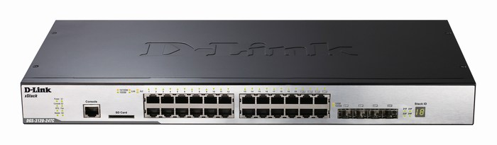 24-Port Gigabit L2 Stackable Managed Switch D-Link DGS-3120-24TC/ESI