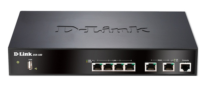 Dual WAN 4-Port Gigabit VPN Router D-Link DSR-500/E