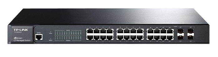 JetStream 24-Port Gigabit L2 Managed Switch with 4 SFP Slots TP-Link T2600G-28TS (TL-SG3424)
