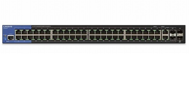 52-Port Managed Business Gigabit PoE+ Switch LINKSYS LGS552P