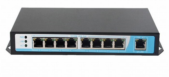 8-Port 10/100Mbps PoE Switch NETONE NO-AT-81 (260 Watt)
