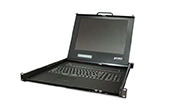 | Drawer 8 Port Combo Free IP KVM Console with 17 inch LCD Display PLANET IKVM-17080