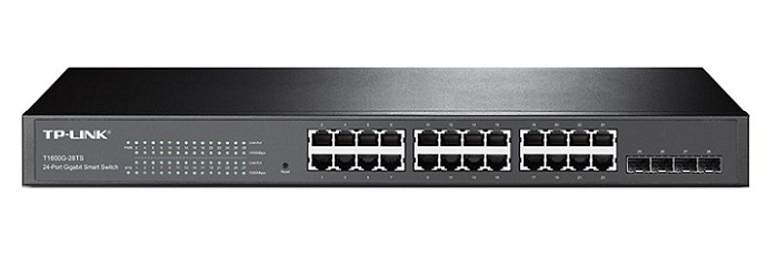 JetStream 24-Port Gigabit Smart Switch with 4 SFP Slots TP-Link T1600G-28TS (TL-SG2424)
