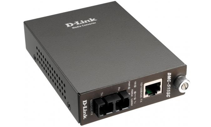 10/100Base-TX (UTP) to 100Base-FX (SC) Single-mode Media Converter D-Link DMC-515SC/E