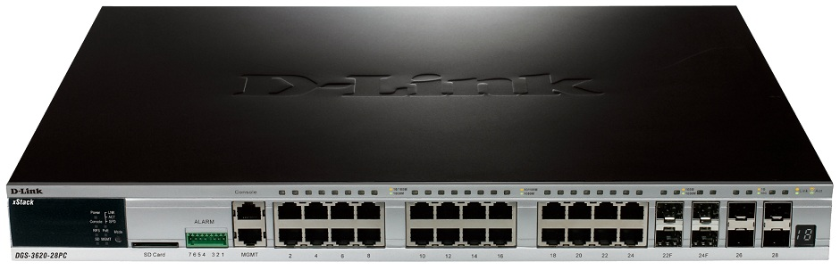 52-Port Layer 3 Stackable Managed Gigabit Switch D-Link DGS-3620-28PC/ESI