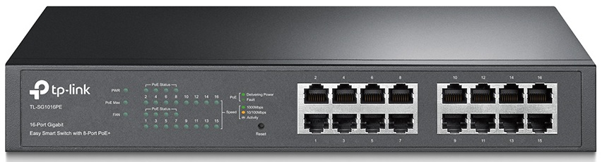 16-Port Gigabit Easy Smart PoE with 8-Port PoE+ Switch TP-LINK TL-SG1016PE