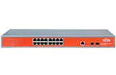 Switch PoE WITEK | 16GE+2SFP port Full Gigabit 24V PoE Switch WITEK WI-PMS318GF-24V