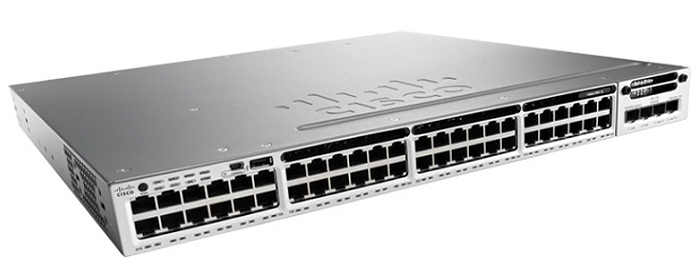 48-Port 10/100/1000 Ethernet IP Service Switch Cisco WS-C3850-48T-E