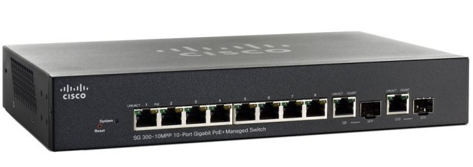 10-Port Gigabit Max PoE+ Managed Switch Cisco SG300-10MPP-K9-EU