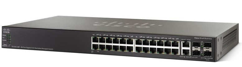 28-Port Gigabit PoE Stackable Managed Switch Cisco SG500-28P-K9-G5