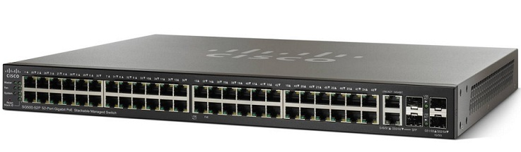 52-Port Gigabit PoE Stackable Managed Switch Cisco SG500-52P-K9-G5