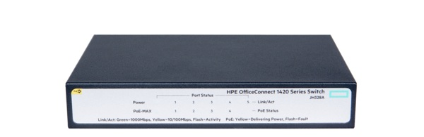HP 1420 OfficeConnect 5-port Gigabit PoE+ Switch JH328A