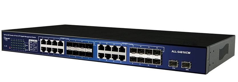 16-Port Gigabit + 2x SFP Smart managed Switch ALLNET ALL-SG4816CW