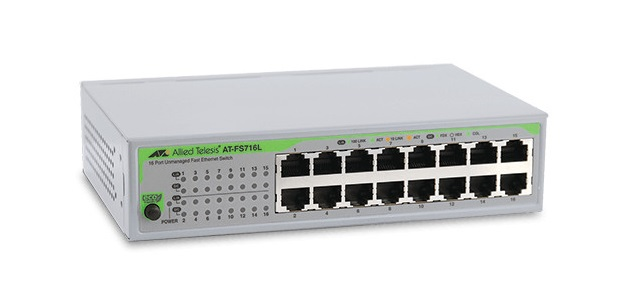 16-port 10/100TX Unmanaged Fast Ethenet Switch ALLIED TELESIS AT-FS716L