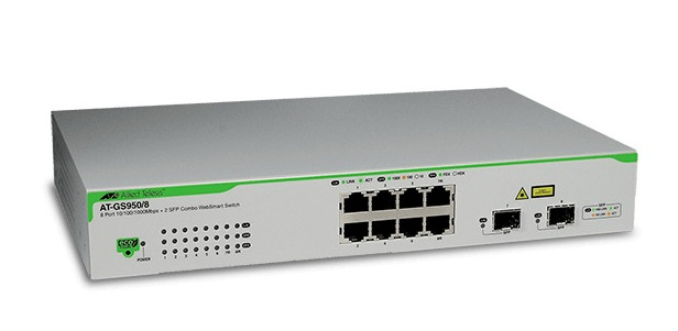 8-port 10/100/1000T WebSmart Switch ALLIED TELESIS AT-GS950/8