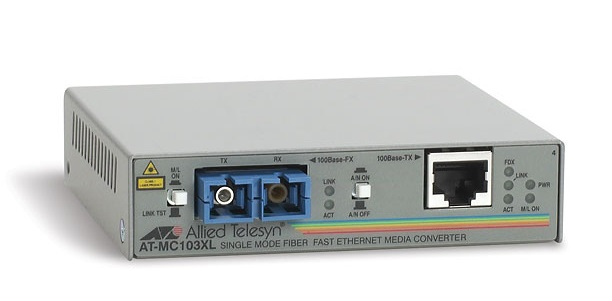 100TX to 100FX (SC) Media Converter ALLIED TELESIS AT-MC103XL-60