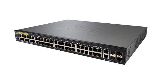 48-port 10/100 PoE Managed Switch CISCO SF350-48P-K9-EU