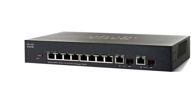 8 ports 10/100 PoE Managed Switch CISCO SF352-08MP-K9-EU