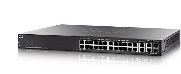 28-Port Gigabit PoE Managed Switch CISCO SG350-28MP-K9-EU