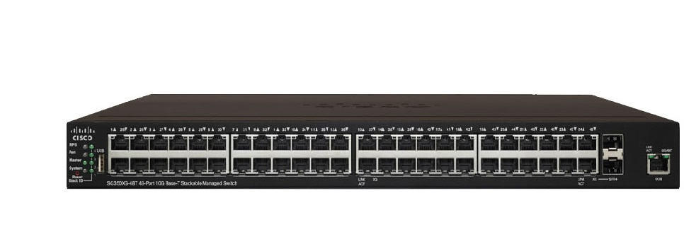 48-Port 10GBase-T Stackable Managed Switch CISCO SG350XG-48T-K9-EU