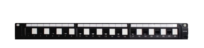 Patch panel 24-port Unshielded VIVANCO CAT.6A (VPCPUFA242A)