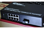 Switch PoE HDTEC | 9-Port 10/100/1000Mbps Converter Switch POE Quang HDTec