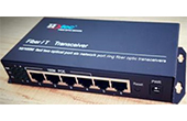 Switch PoE HDTEC | Converter 2-Port Quang AB 4-Port PoE 2-RJ45 100M Uplink Switch PoE HDTEC