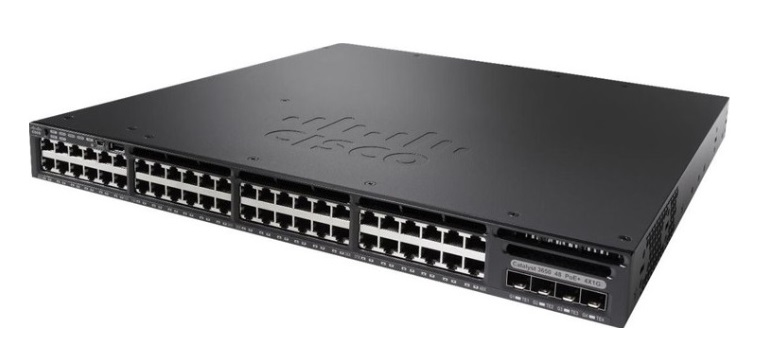 48-Port 10/100/1000 Ethernet PoE Switch Cisco Catalyst WS-C3650-48PS-S