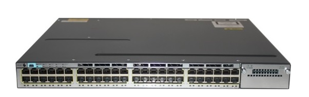 48-Port 10/100/1000 Ethernet PoE Switch Cisco Catalyst WS-C3750X-48PF-L