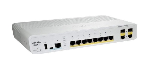 8-Port 10/100 Fast Ethernet Switch Cisco Catalyst WS-C2960C-8PC-L