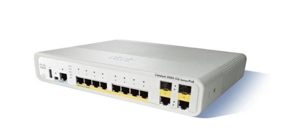 8-Port Gigabit Ethernet Switch Cisco Catalyst WS-C3560CG-8TC-S