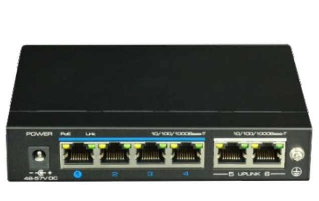 4-Port 10/100/1000Mbps PoE Switch IONNET IGE-604 (60)