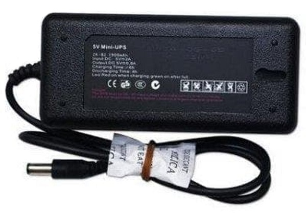 Nguồn pin lưu điện dùng cho máy chấm công UPS mini 5V và UPS