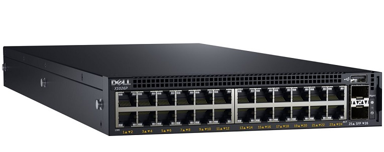24-port Gigabit PoE Managed Switch DELL X1026P