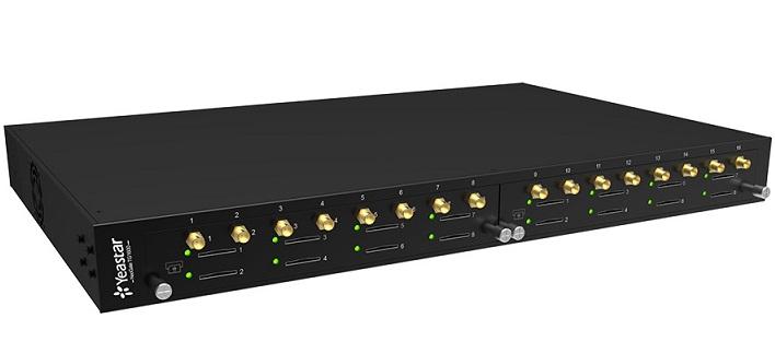 Thiết bị mạng GSM 16 kênh SIM di động Yeastar TG1600-2G8
