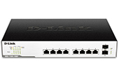 Thiết bị mạng D-Link | 8-Port Gigabit  EasySmart (Max) Managed PoE Switch D-Link DGS-1100-10MP