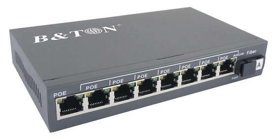 8-port 10/100/1000Mbps PoE Switch BTON BT-6108GE-20A/B