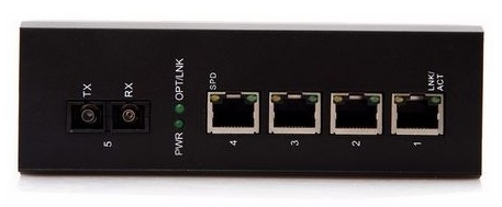 1-port 10/100Mbps Industrial Fiber Unmanaged Switch BTON BT-I914SM-D